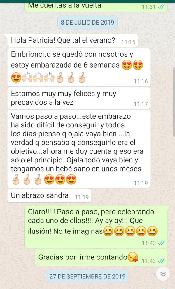 Testimonio WhatsApp